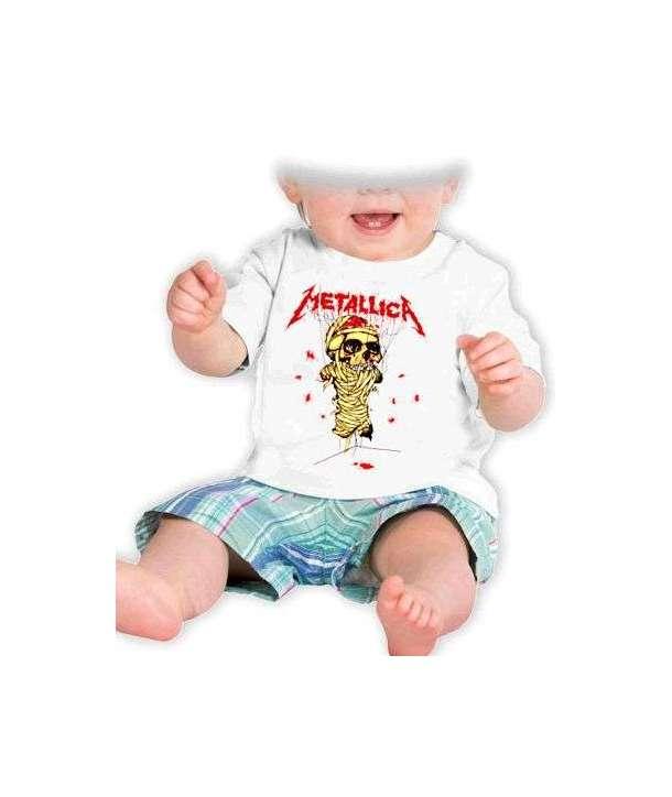 Camiseta niño/a METALLICA - Calavera Blanca