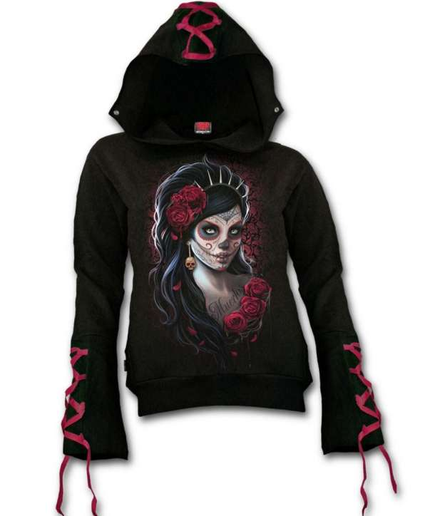 Sudadera DAY OF THE DEAD Cinta Roja Chica Spiral
