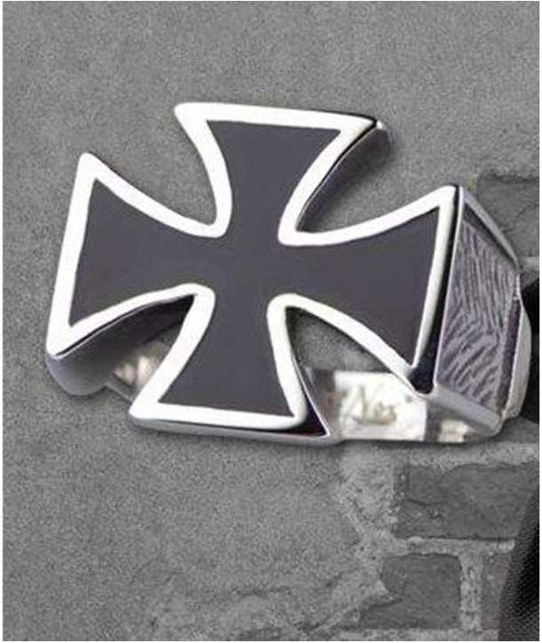 Anillo Iron Cross Acero