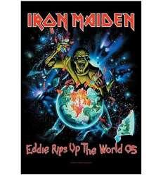 Bandera IRON MAIDEN - Eddie Rips Up The World