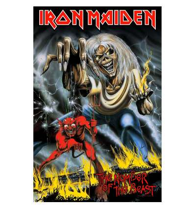 Bandera Poster Textil IRON MAIDEN - The Number Of The Beast
