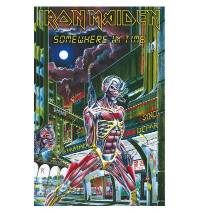 Bandera Poster Textil IRON MAIDEN - Somewhere In Time