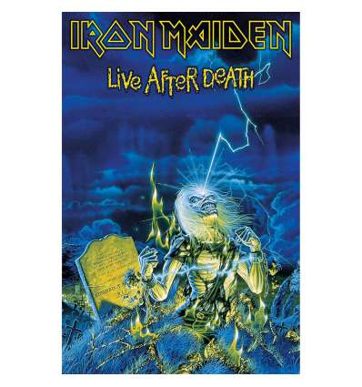 Bandera Poster Textil IRON MAIDEN - Live After Death