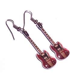 Pendientes Guitarra Roja ACDC (par)