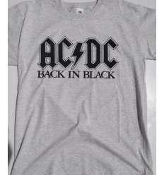 Camiseta ACDC - Back In Black Gris