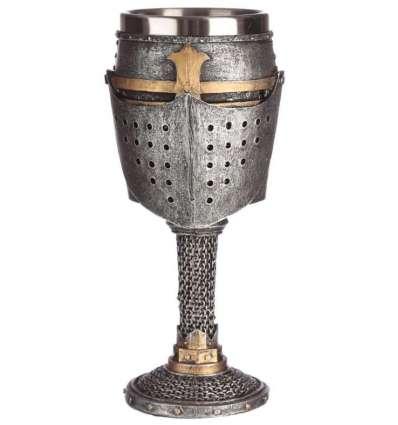 Copa Casco y Malla Medieval Resina