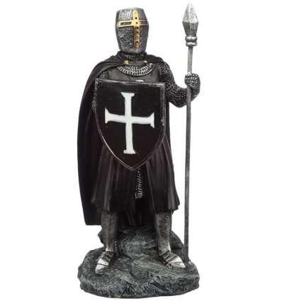 Caballero Medieval Oscuro de pie Grande