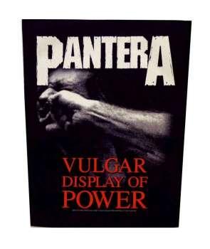 Parche para espalda PANTERA - Vulgar Display Of Power