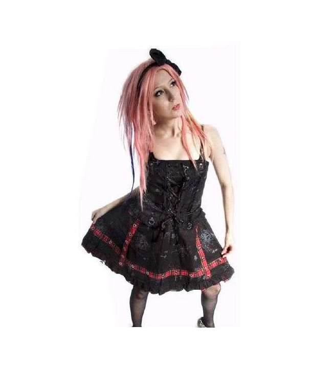 Vestido Cruces cinta estilo corset