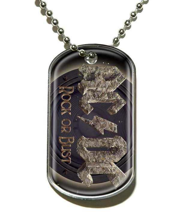 Colgante ACDC - Rock Or Bust Dog Tag