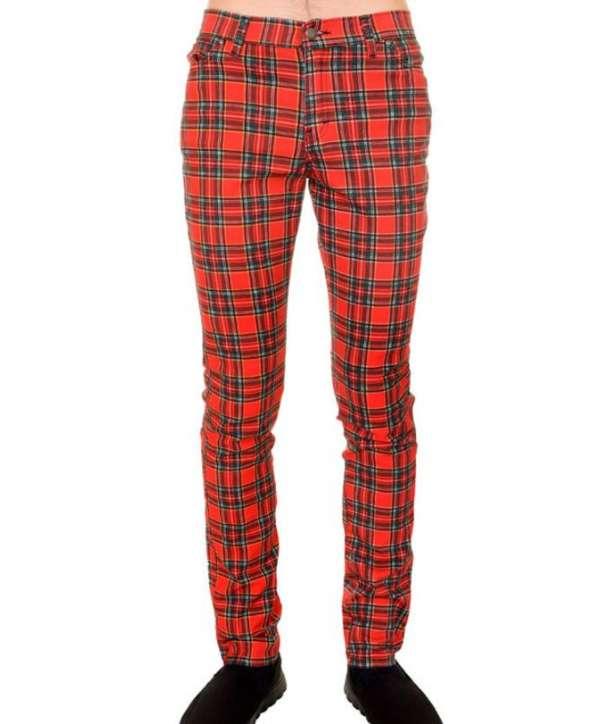 Pantalón Elástico Escocés Regular Fit
