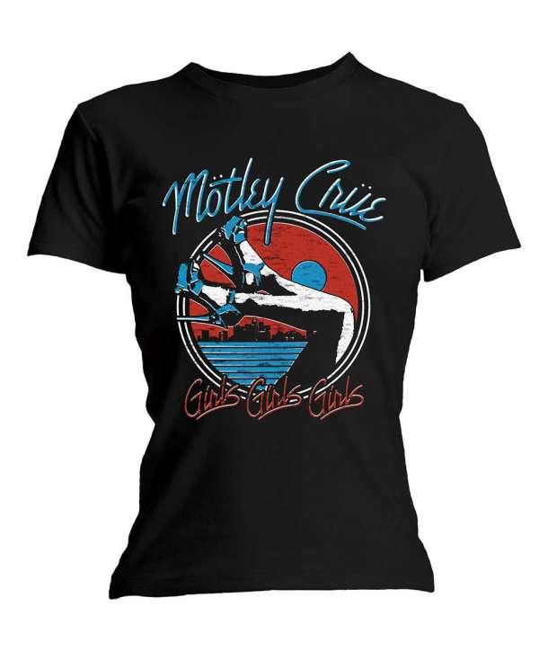 Camiseta para chica MOTLEY CRUE - Heels Girls Girls Girls