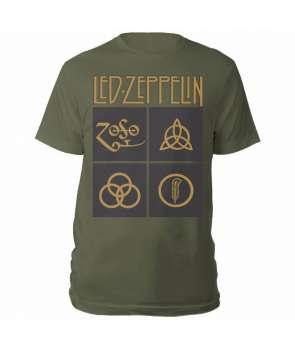 Camiseta LED ZEPPELIN - Gold Symbols