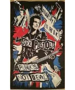 Bandera SEX PISTOLS - Punks Not Dead