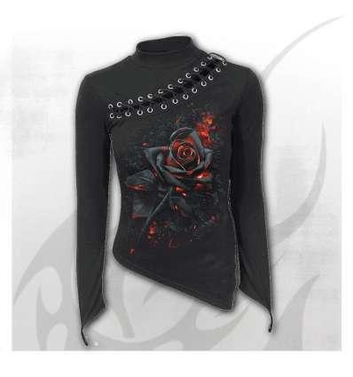 Camiseta BURNT ROSE Cuerdas Chica Spiral