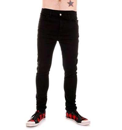 Pantalón Vaquero Elástico Negro Tiger