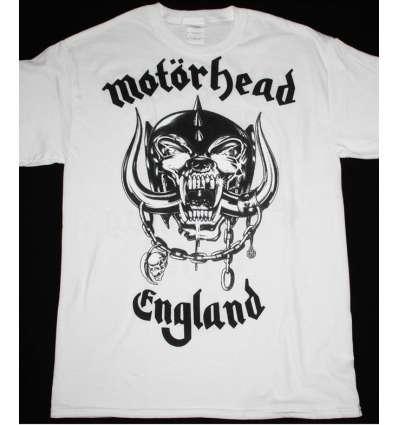Camiseta MOTORHEAD - England Blanca