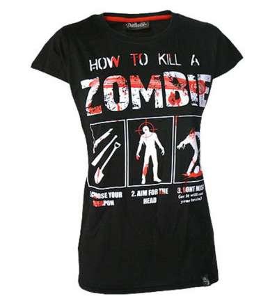 Camiseta para chica HOW TO KILL ZOMBIES