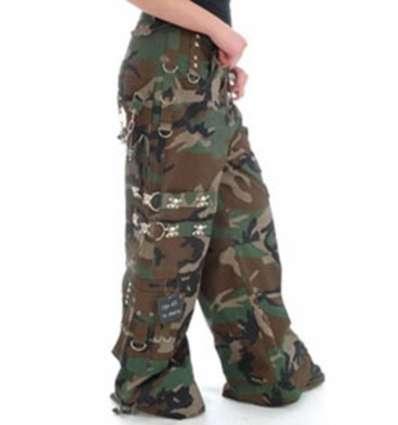 Pantalón Militar Camuflaje Calaveras Bondage