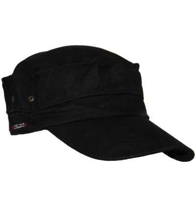 Gorra Negra Estilo Militar