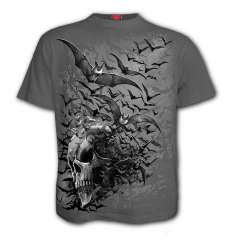 Camiseta Spiral BAT SKULL Gris